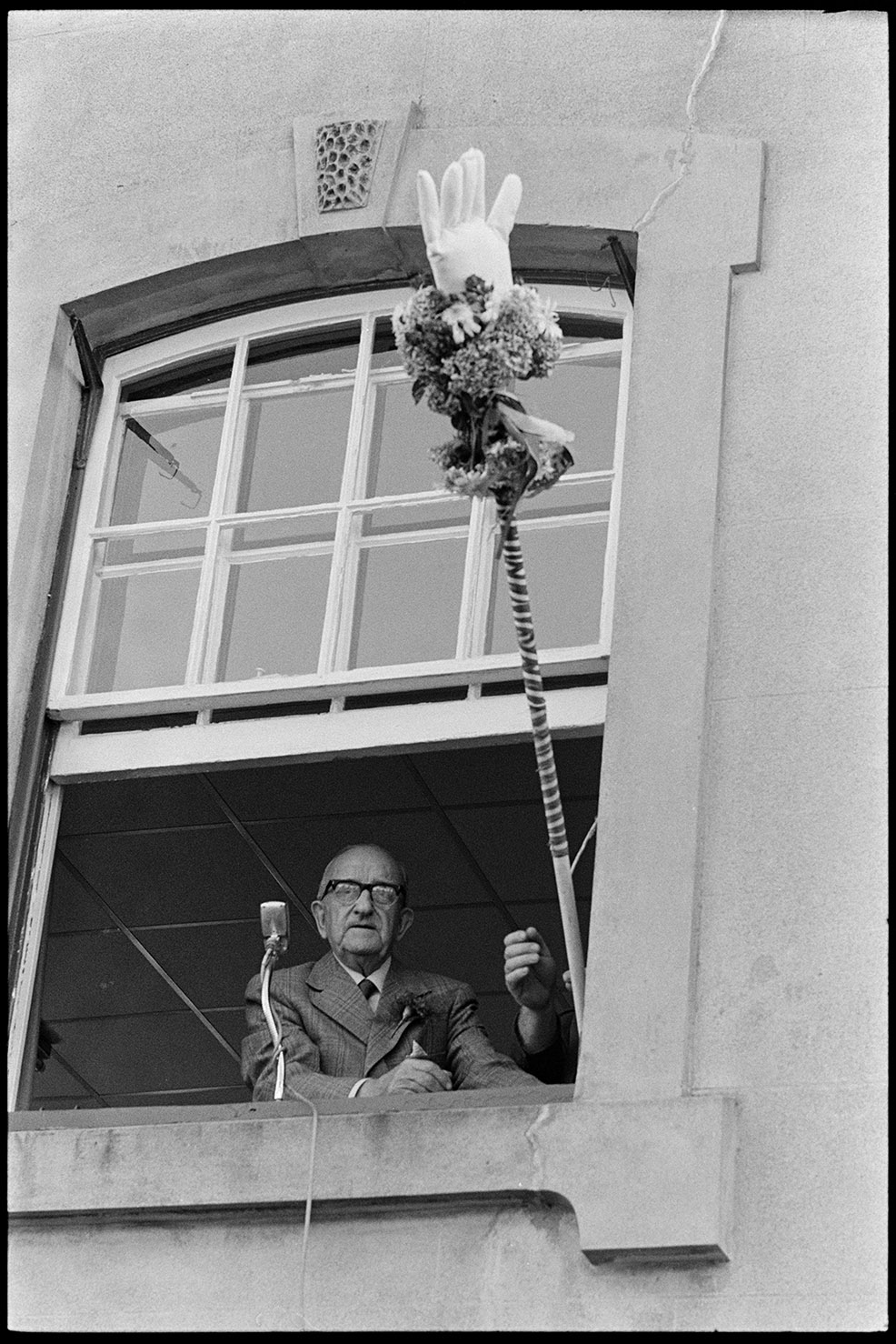White glove at Chulmleigh fair. Chulmleigh,August 1981
