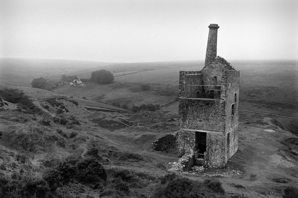 Wheal Betsy engine house, Mary Tavy, 1972