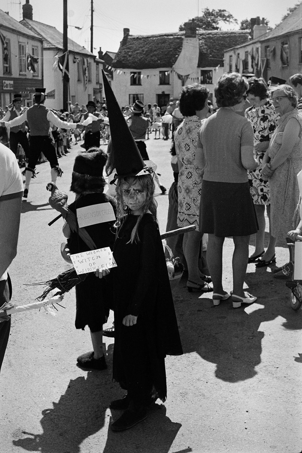 Fancy dress  - 'The wicked witch of Winkleigh', Winkleigh, July 1972