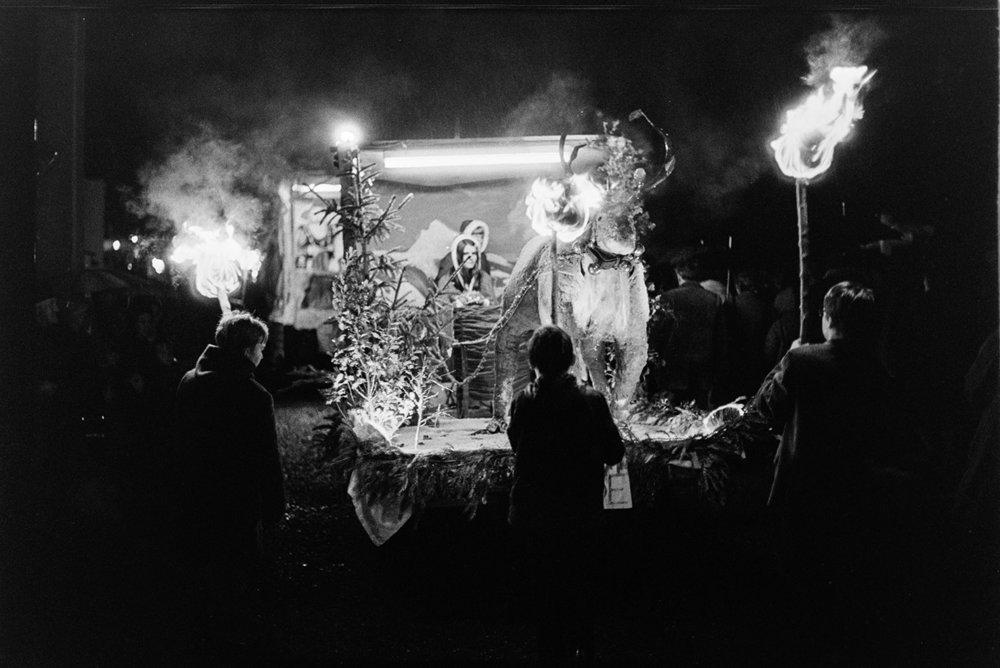 Carnival floats at night, Dolton, November 1972
