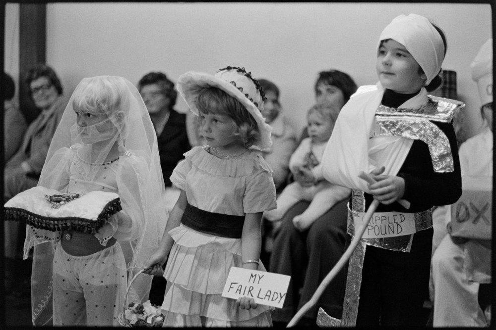 Children in fancy dress, Dolton, October 1975