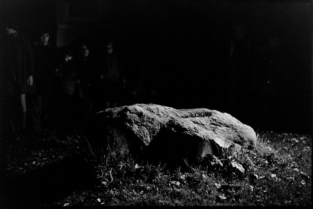 Turning the Devil's Stone, Shebbear, 5 November 1974
