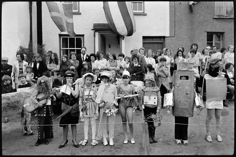Image: Fancy dress parade at village fair, Winkleigh, 20 July 1974. Documentary photograph by James Ravilious for the Beaford Archive.