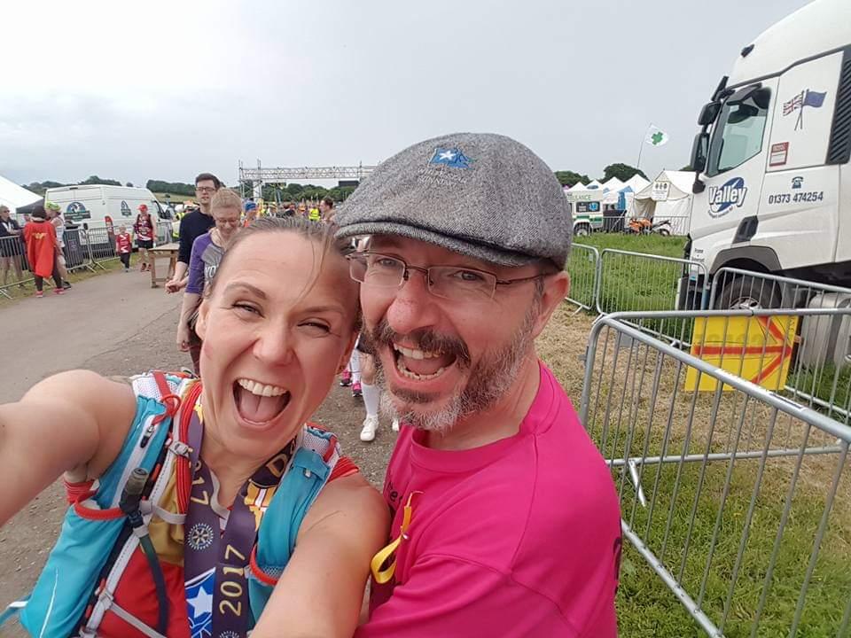 Finishing Dorchester marathon.
