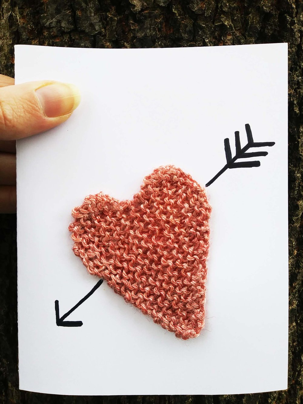 Knitted Cards, $25pp - Options: Heart Throb, Tied the Knot, Popped the Question, O Christmas Tree, Winter Holly
