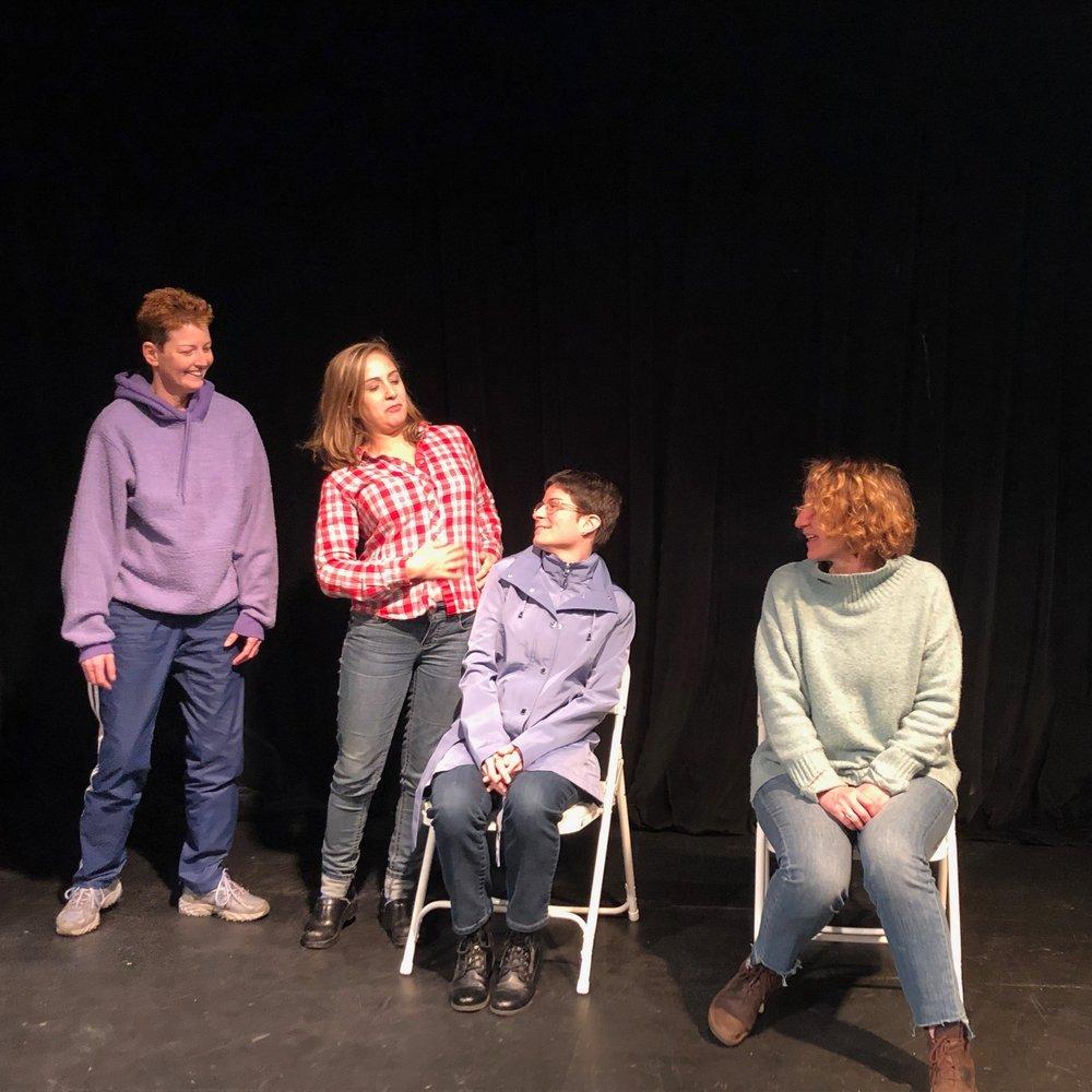 Improv class group scene.