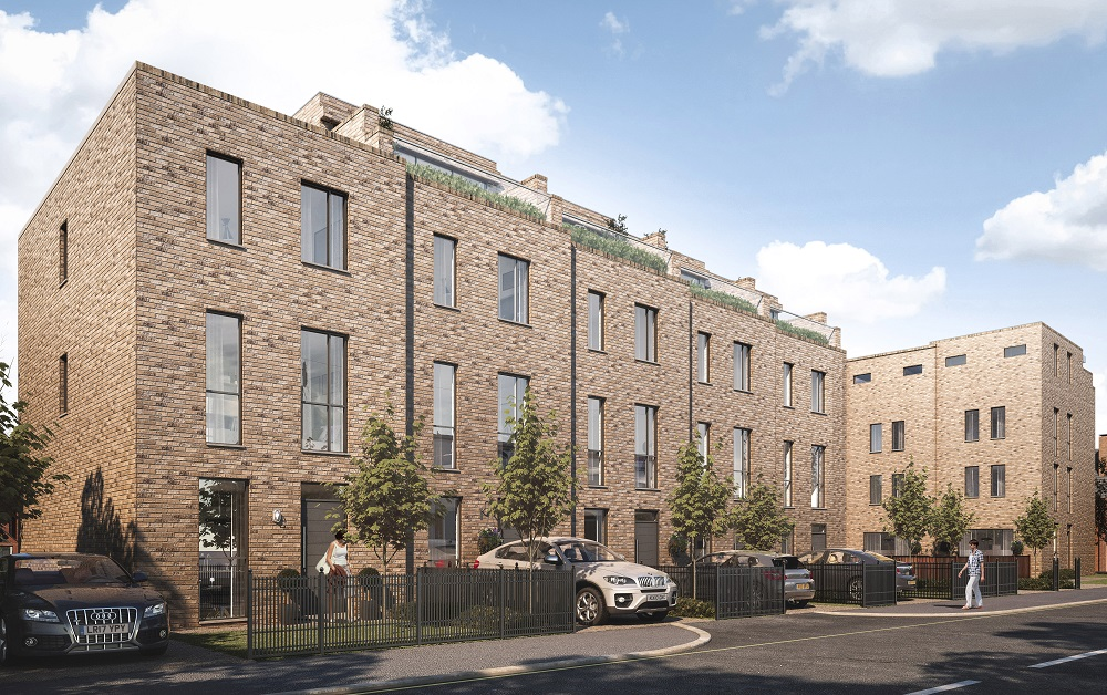 Contemporary 3 & 4 Storey Town Houses with Driveways and Gardens