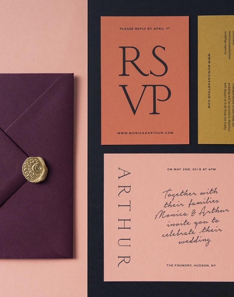 Wedding Invitations (Pre-Wedding Festivities, Ceremony, Reception, RSVP, & Envelopes)
