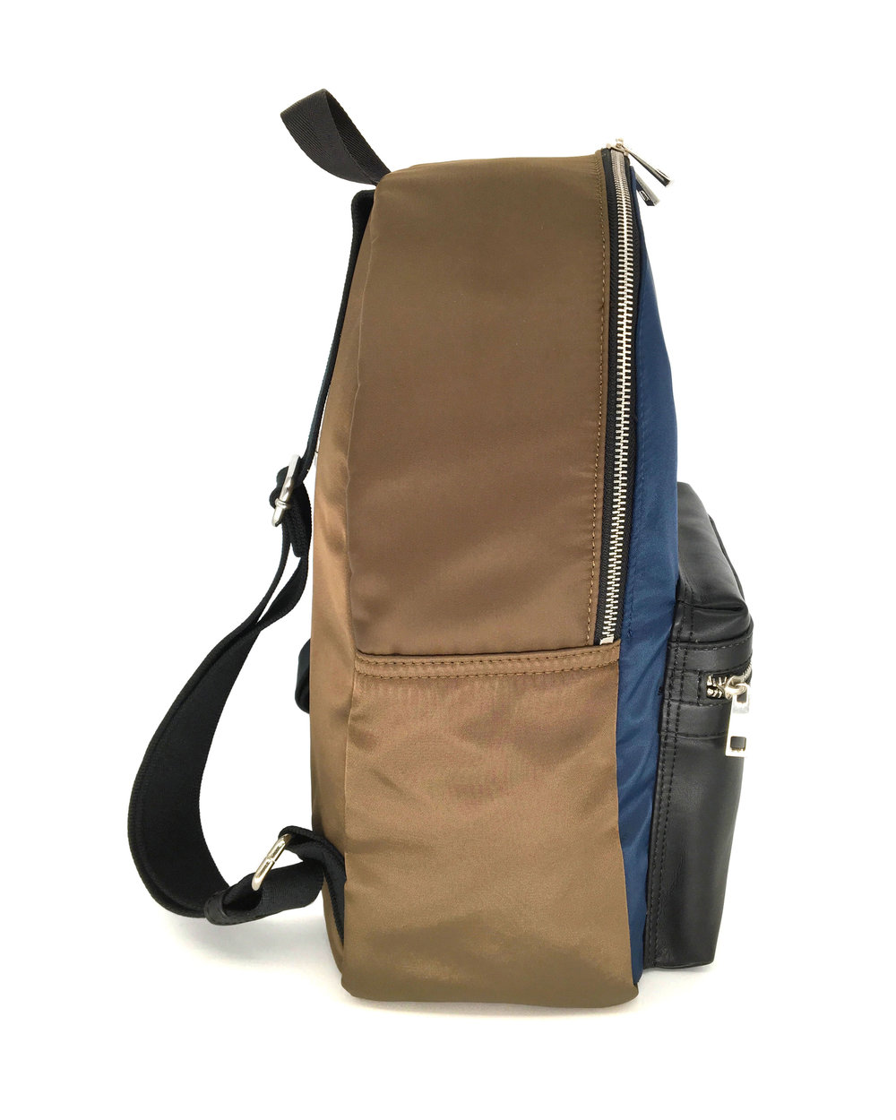 7e48c26c3f Khaki Navy Leather-Trimmed Backpack — UNORTHODOX