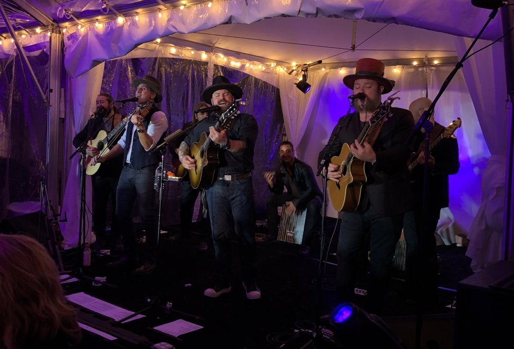 The Zac Brown Band performing at camp southern ground Gala