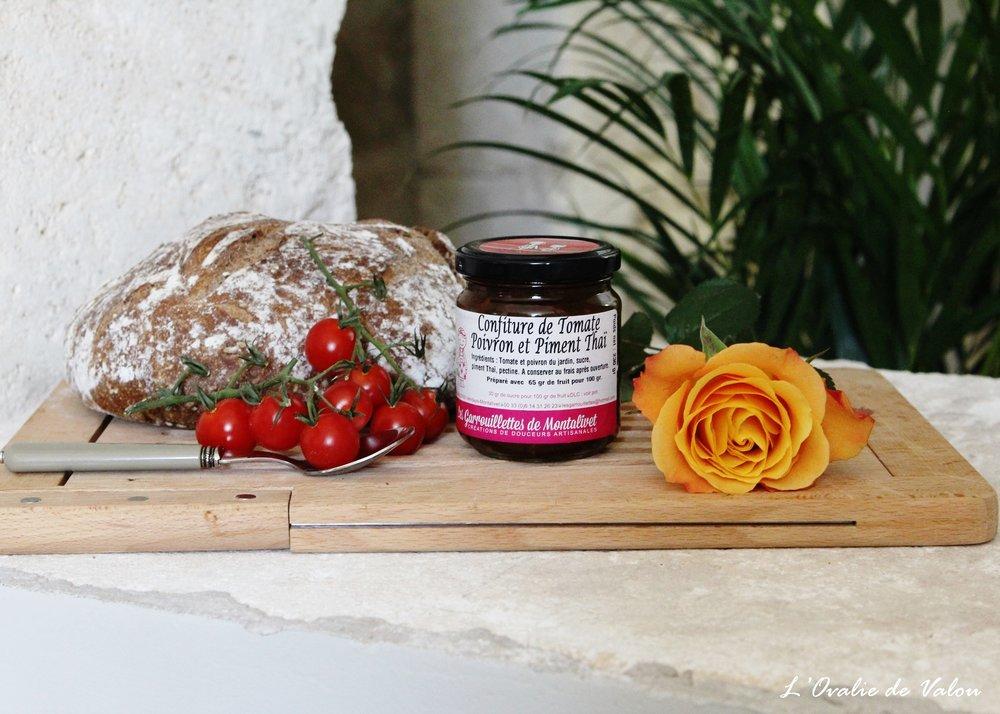 confiture de tomates, poivrons & piment thai - Production locale.