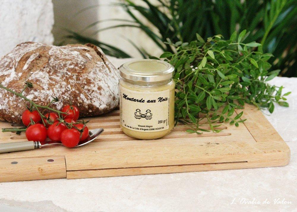 moutarde aux noix - Elaborée et fabriquée dans le Médoc.