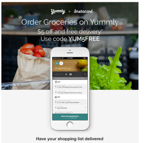 instacart yummly integration