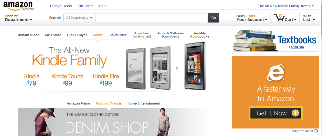 Click to Zoom: Amazon.com homepage refresh