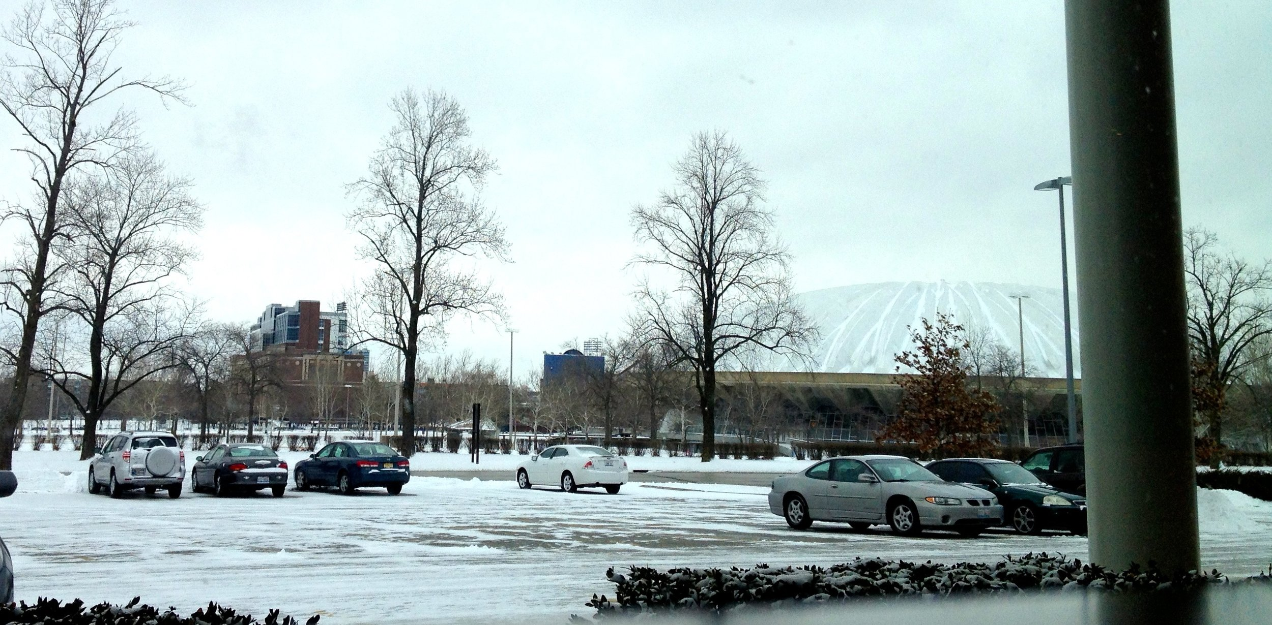 Snowy Assembly Hall