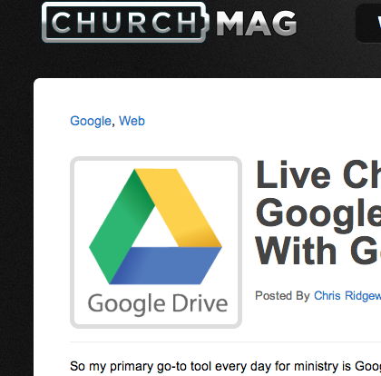 Church Mag Google Chat screenshot