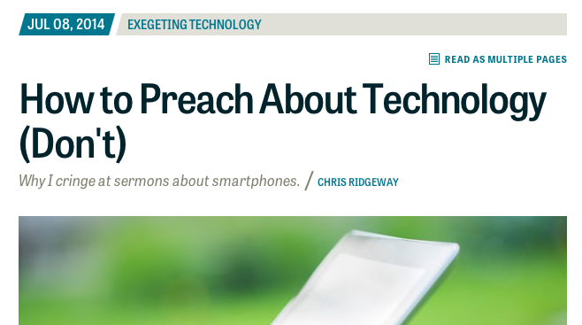 Parse How to Preach About TEchnology header screenshot