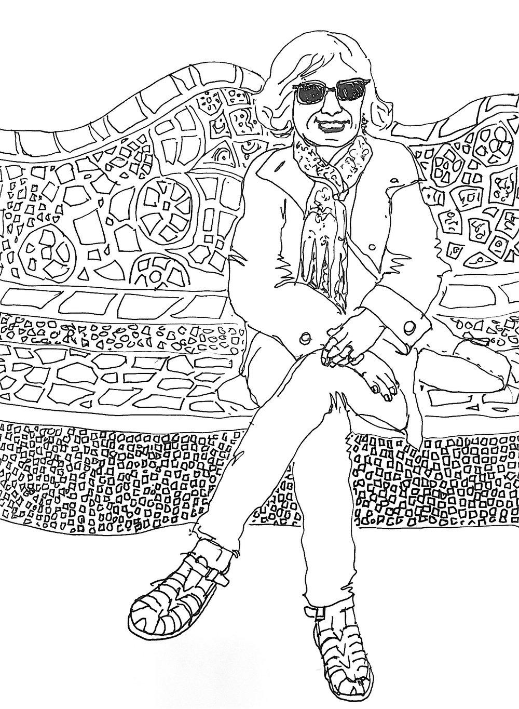 Self Portrait at Parc Güell, 2017