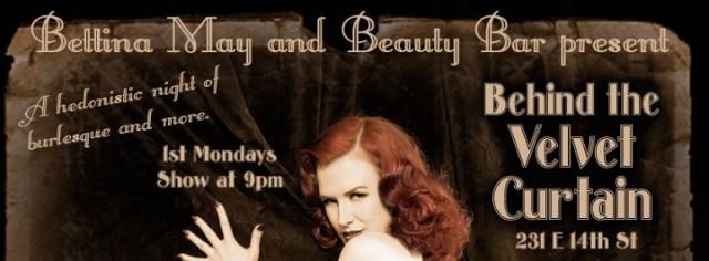 Behind The Velvet Curtian, Bettina May, Beauty Bar