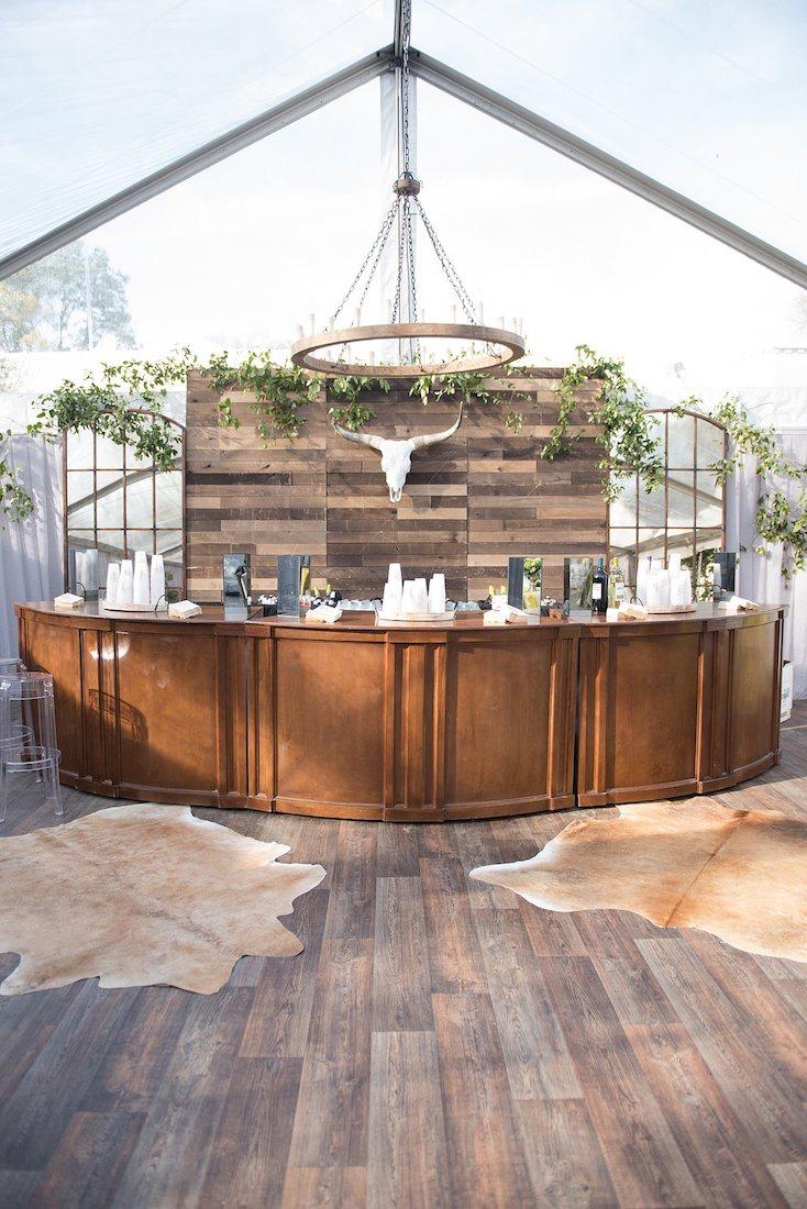 natural botanic green wedding white door events custom kennedy cherry bar barn wood wall