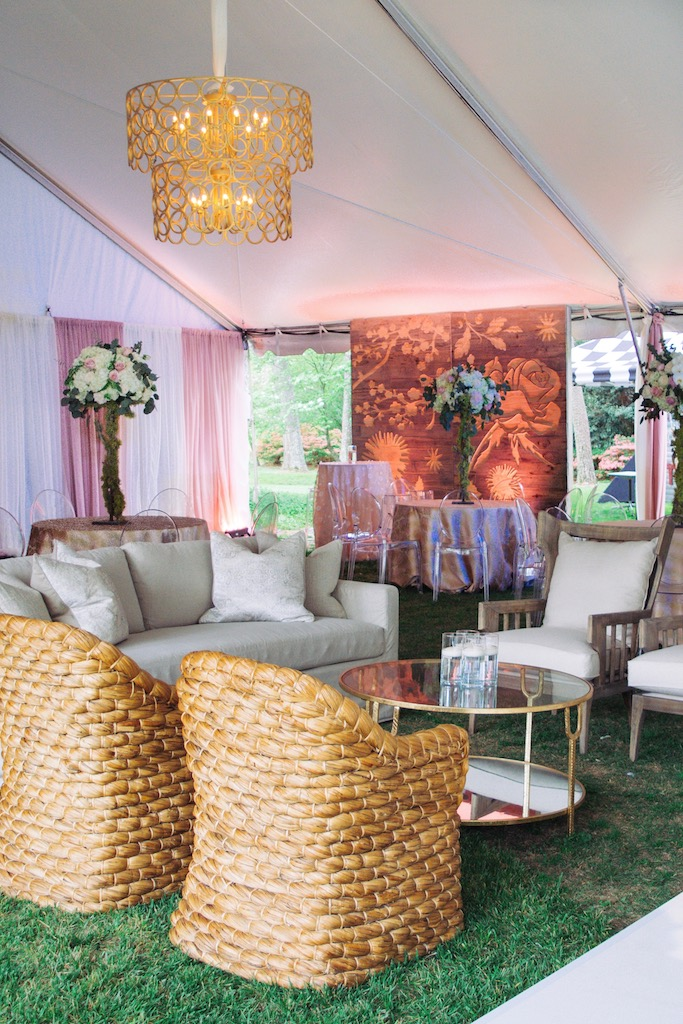 outdoor wedding design pink contemporary event design