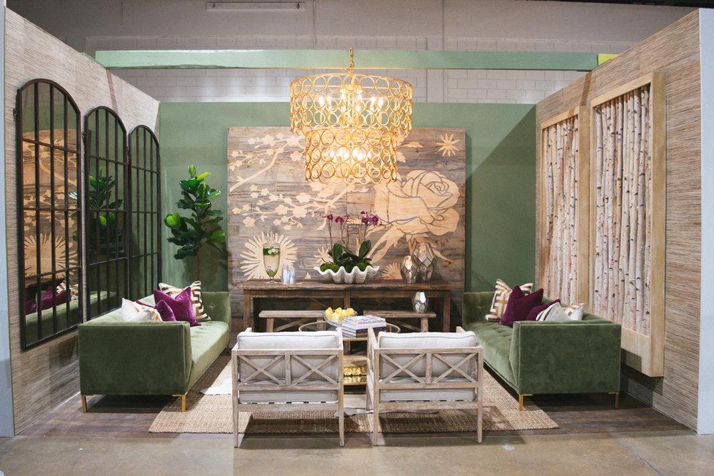 design vignette floral wall velvet sofa.jpg