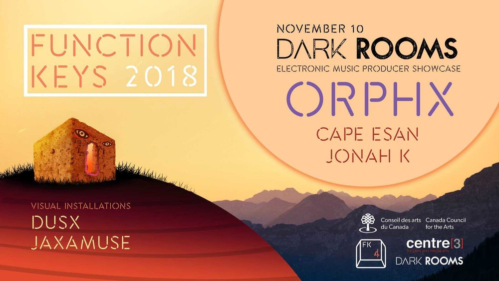 - The Dark Rooms session is a curated experience that features a selection of electronic music and visual performances, and evolves into a dance party!Featuring Dark Rooms (Jonah K, Jaxamuse, and DusX), ORPHX, & Cape EsanTICKETS: 100 advanced online tickets at $10, more at the doorThis is a 19+ event.