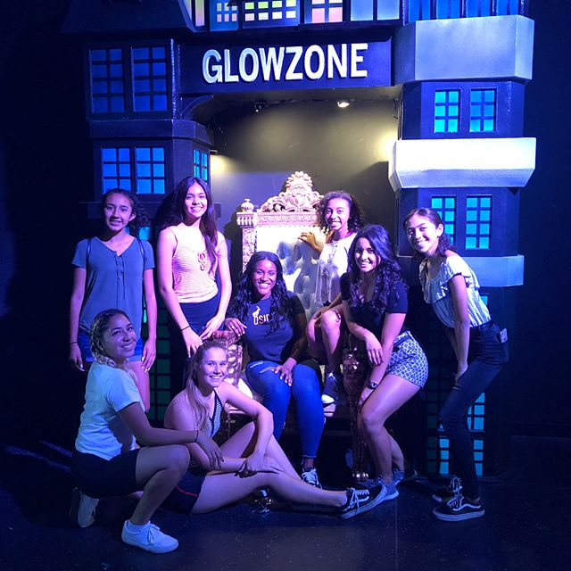 Some of the girls took time out from their royal duties to have fun at Glowzone together.  Thank you #glowzonevista for donating prizes to all of our courts! #missvista #missteenvista #missvista2018 #pageantsisters