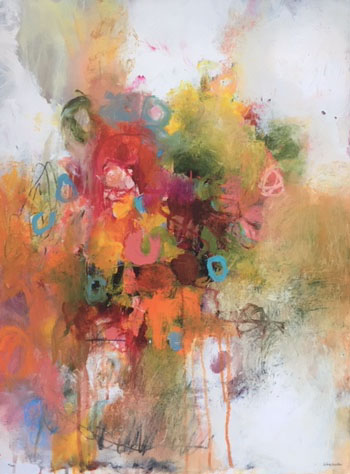 """Abstract Floral  36x48"""""""