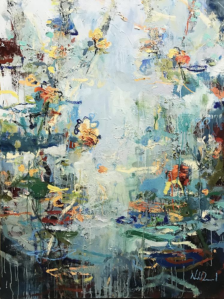 SOLD 17-24540 Desmond Water Garden 36x48 oil on canvas.JPG