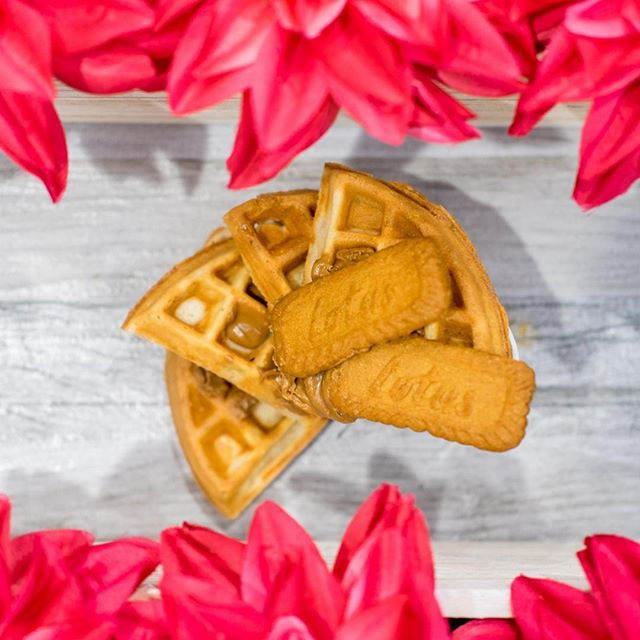 Caution: waffles with cookie butter spread may be addictive⠀ ⠀ #cookiebutteraddict #speculoos #cookiebutter #waffles #twistedlovehtx