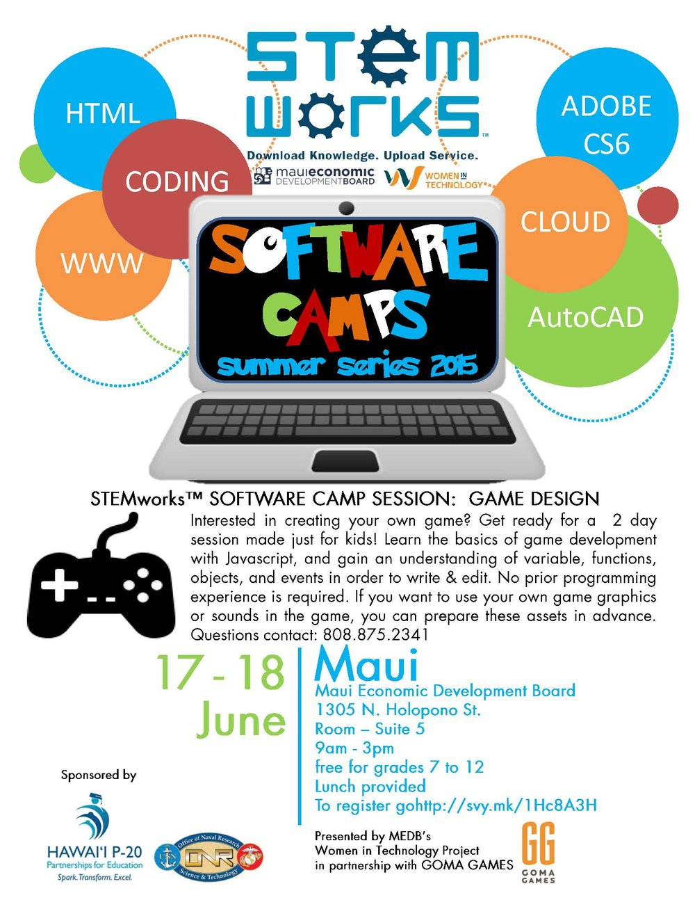FLYER_MAUISoftwareCamp_summergamedesign2015.jpg