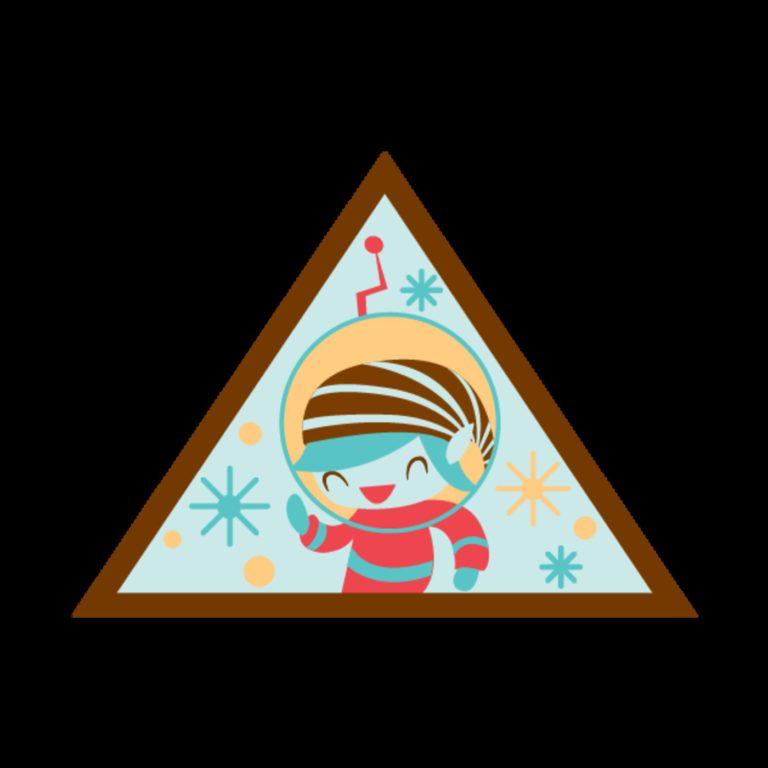The Girl Scouts' new Space Science Adventurer badge for Brownies. Credit: Girl Scouts of the U.S.A.