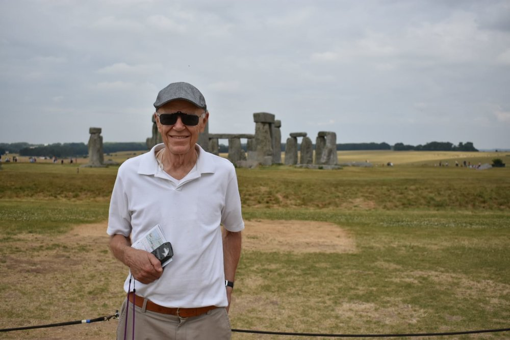 Maestro Shafer at Stonehenge