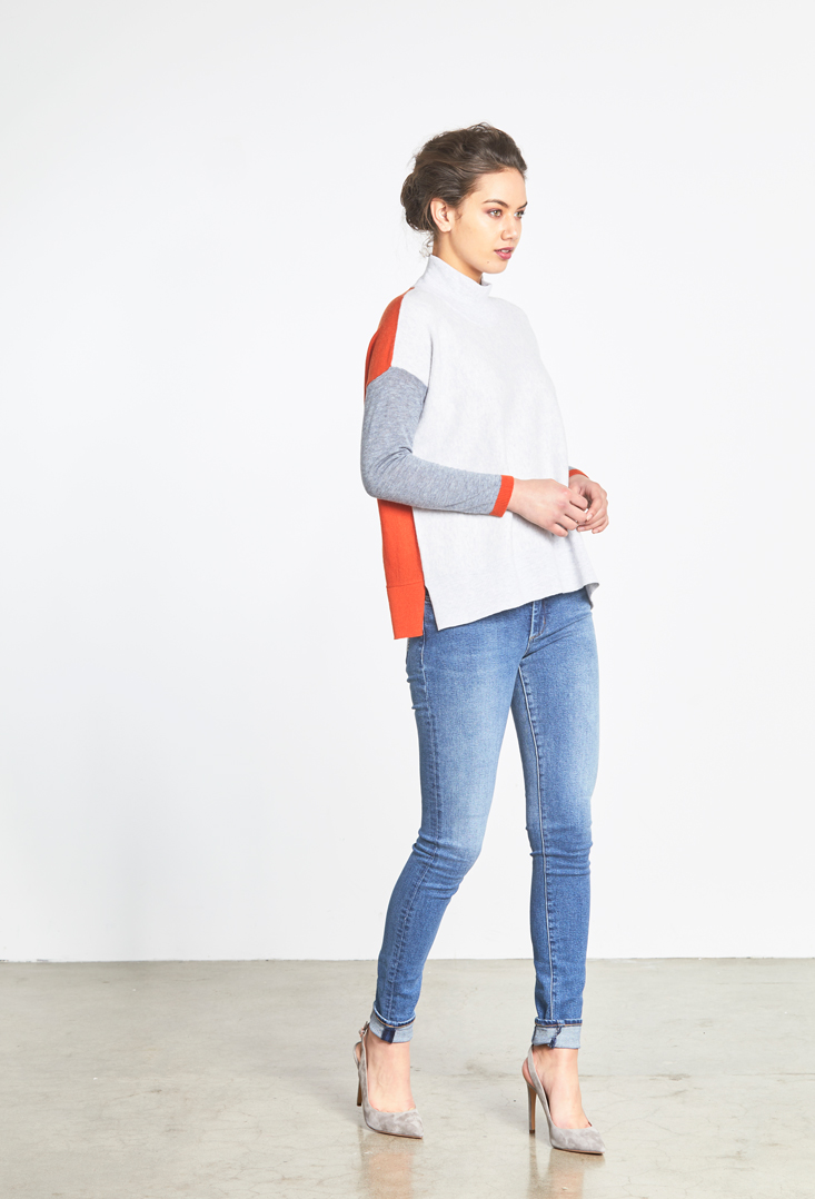 Colour Block Toni Roll Neck Side.jpg