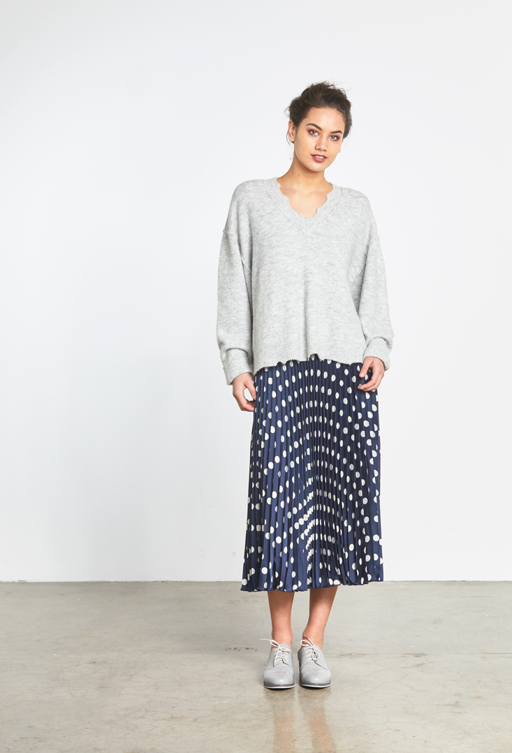Juniper Sweater Polka Pleat Skirt.jpg