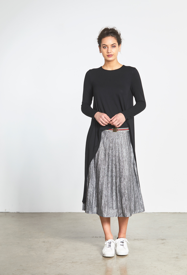 Sabrina Top Metalic Pleat Skirt.jpg