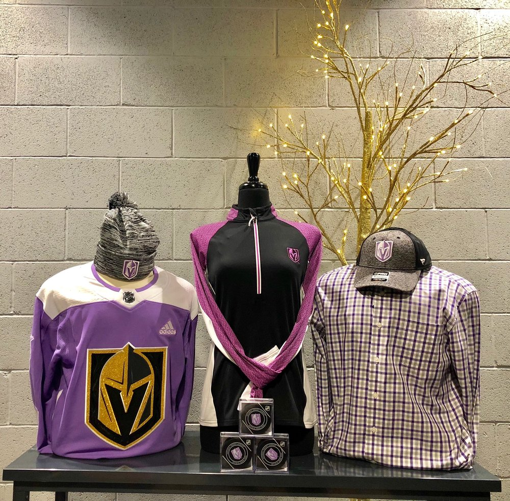 fe95a475a1f The Arsenal Goes Purple For Hockey Fights Cancer — VGK Lifestyle