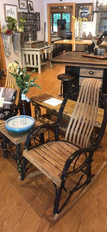 Amish Hickory Rocking Chairs