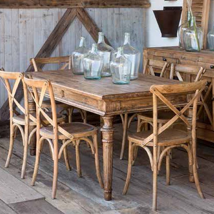 Rustic Tables & Crossback Chairs