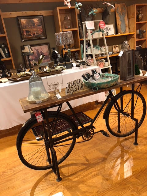 Antique Bicycle Table