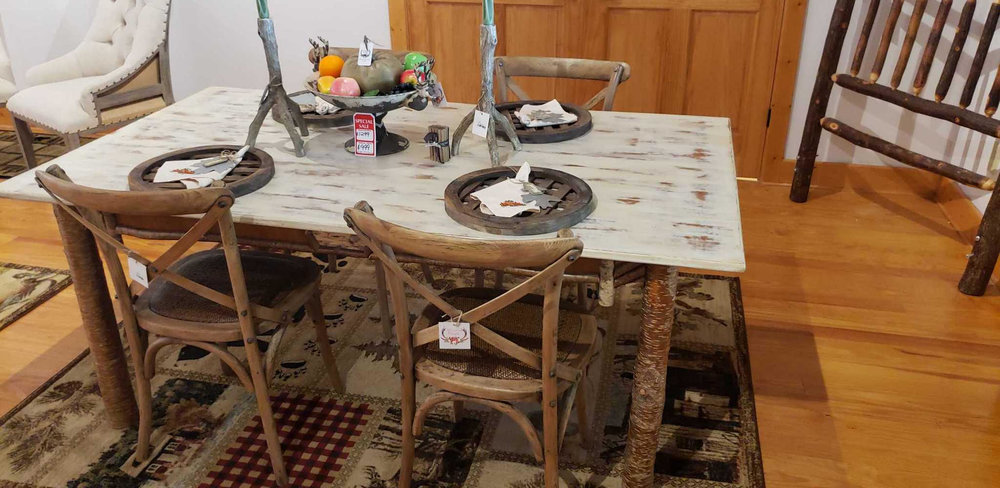 BEAUTIFUL, RUSTIC TABLE AND 4 CHAIRS! NOW ONLY $999