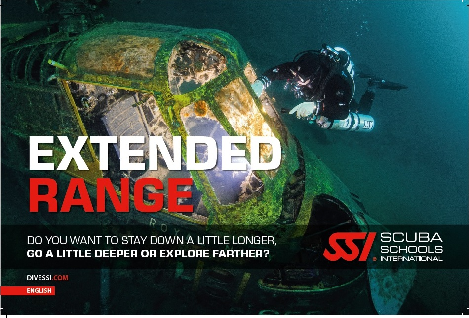 The SSI EXTENDED RANGE SPECIALTIES ARE globally-recognized certification programs DESIGNED TO HELP YOU Explore longer, deeper and farther. Learn about the gear, the skills and the science needed to safely dive beyond the recreational limits. combined with confined water training and the open water certification dives, you'll have the knowledge, skills and experience needed for extended range diving.