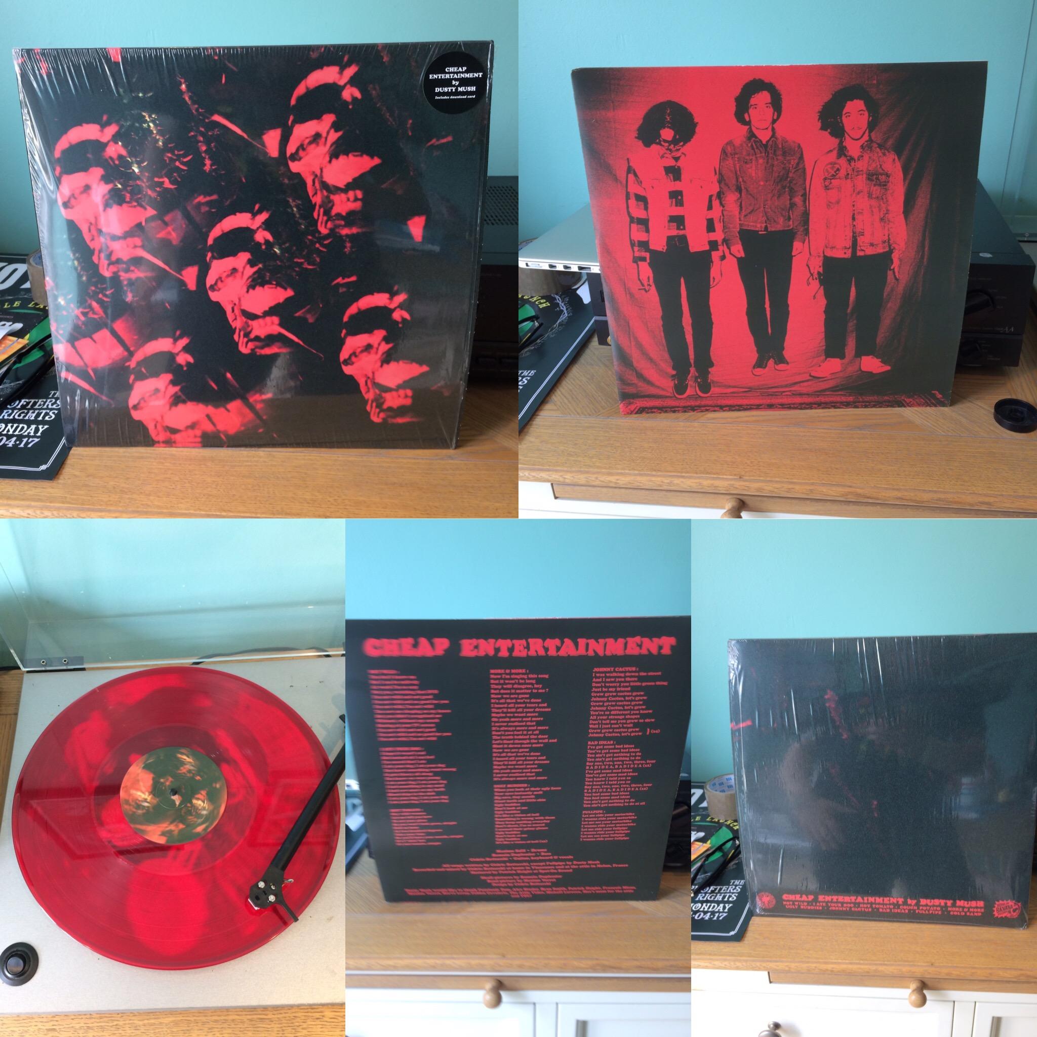 Dusty Mush - Cheap Entertainment Red Vinyl