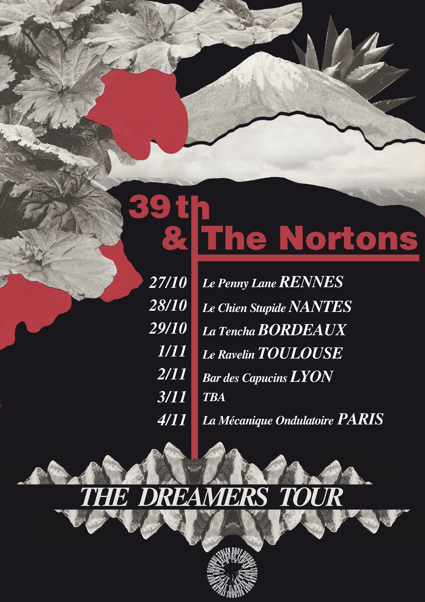 39th and the Nortons - tour poster