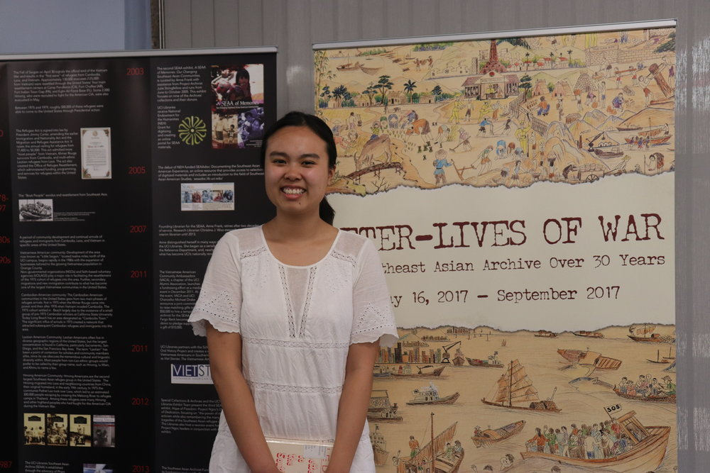 Vian Nguyen, student assistant, Orange County Southeast Asian Archive.
