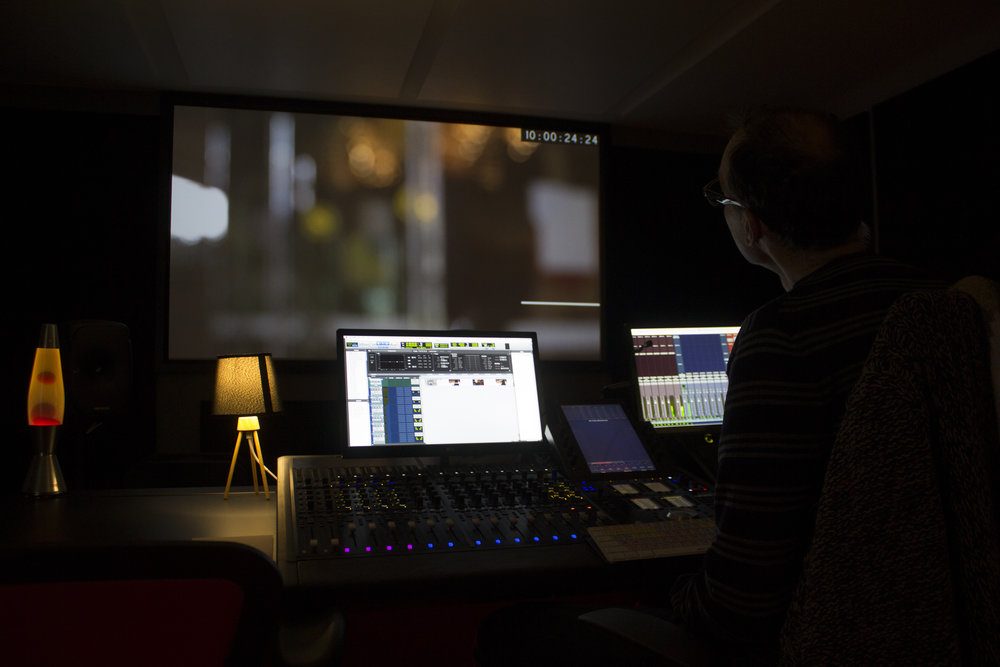 Three near-field Mix Stages  - designed for Dolby Home Theatre sound design and mix,each equipped with Pro Tools and S6 Consoles, and Genelec speaker arrays