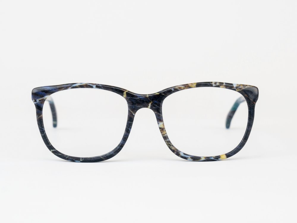 Franklin - For the inventors and visionaries. The Franklin is a timeless square frame inspired the pioneering scientist Rosalind Franklin.Available in any color or pattern that your heart desires.