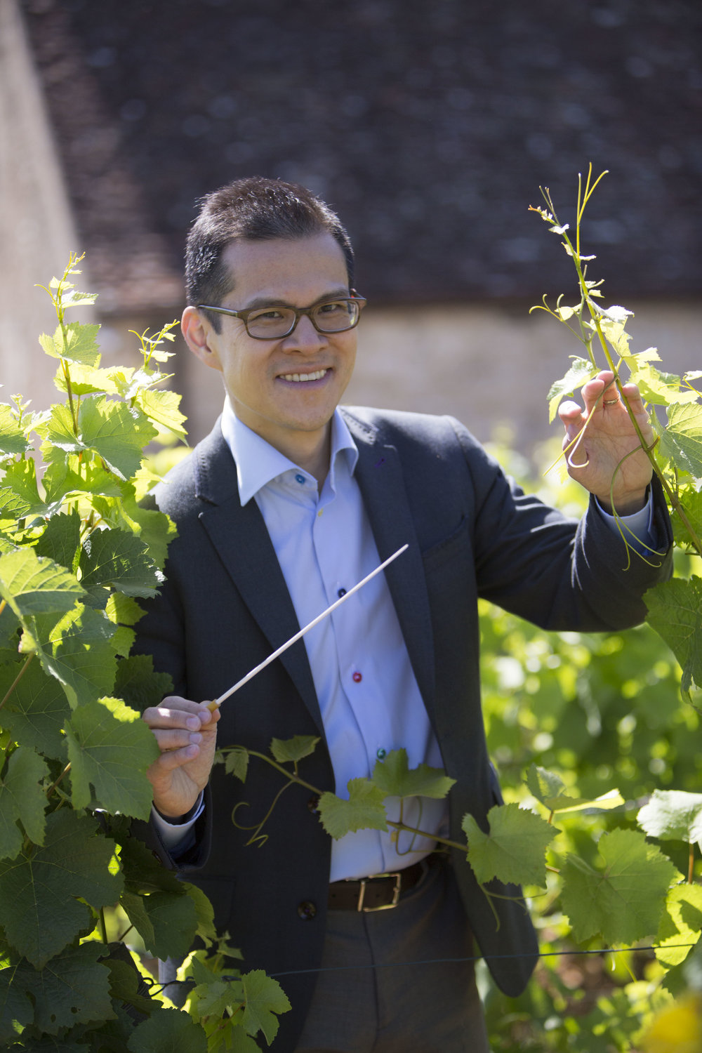 David Chan at the Château du Clos de Vougeot