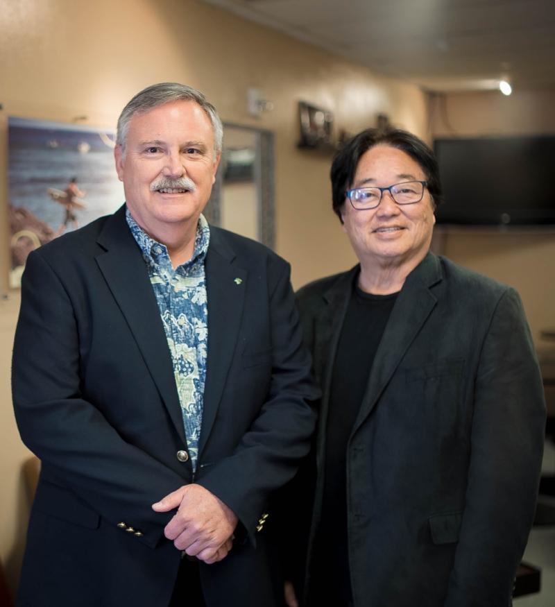 Leadership - Dr. Keith Kent, President (Left) & Dr Dr. Randy Furushima, President Emeritus (Right)